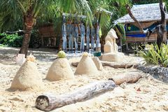 Resort on the beach of El Nido, Philippines. This photo was taken in Palawan island. El Nido Palawan Philippines has some of the most beautiful scenery we have royalty free stock photography