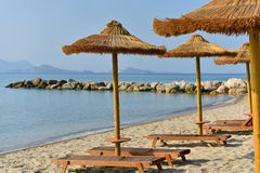 Resort beach in Greece Royalty Free Stock Photo