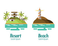 Resort and Beach landscape. Royalty Free Stock Photography