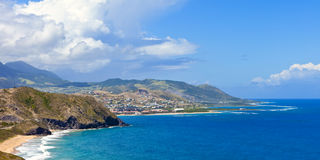 Resort beach on st kitts Stock Photo