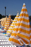 Resort beach umbrellas Royalty Free Stock Image