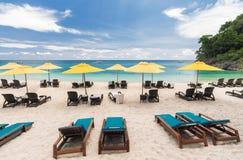 Resort beachfront Royalty Free Stock Photos
