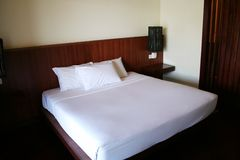 Resort bed Royalty Free Stock Photo