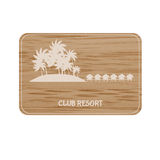 Resort board. On the bamboo background Stock Image