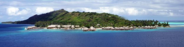 Resort at Bora Bora Royalty Free Stock Photo