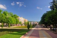Resort Boulevard and the main building narzan baths. Kislovodsk. Stock Photos