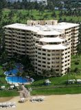 Resort building. Aerial view of a resort building at Acapulco, Mexico Stock Photos