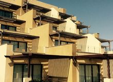 Resort building. Chalets in hurghada egypt nice architecture royalty free stock image