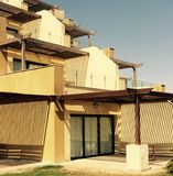 Resort building. Chalets in hurghada egypt nice architecture royalty free stock photography