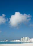 Resort buildings. Near Punta Cancun beach Stock Image