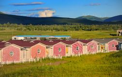 Resort Cabins Stock Image