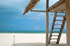 Resort caribbe lifeguard. Resort lifeguard in cancun caribbean beach Stock Photography