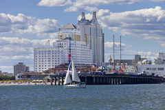 Resort Casino and Steal Pier in Atlantic City, New Jersey. Royalty Free Stock Images