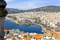 Resort city of Kavala in Greece. City of Kavala in Greece (summer resort place Royalty Free Stock Photo