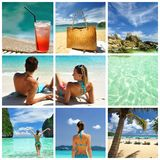 Resort collage. Collage made with beautiful tropical resort shots Royalty Free Stock Photo