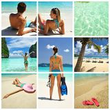 Resort collage Royalty Free Stock Photo