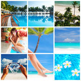 Resort collage Stock Photos