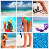 Resort collage. Collage made with beautiful tropical resort shots Royalty Free Stock Image