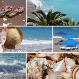 Resort collage4 - beach Stock Images