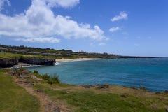 Resort community overlooks beach in Napaili Stock Image