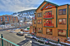 Resort Condominium. Nice condo for people to live, vacation and ski in a town Stock Photos