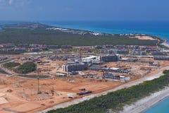 Resort Construction Cuba Stock Photo
