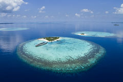Resort On A coral reef stock photography