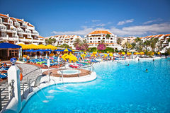 Resort  in Costa Adeje on Tenerife,Spain. Royalty Free Stock Photography