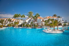 Resort  in Costa Adeje on Tenerife,Spain. Stock Photo