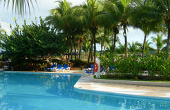 Resort in Costa Rica with pool Royalty Free Stock Photos