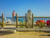 Resort da ilha tropical em Cartagena Imagens de Stock Royalty Free