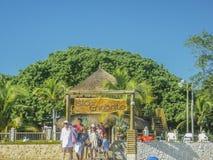 Resort da ilha tropical em Cartagena Foto de Stock Royalty Free