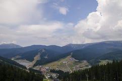 Resort de montanha Foto de Stock Royalty Free