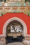 Resort de montanha de Chengde, Putuo, província de Hebei pelo templo do arco de vidro Foto de Stock