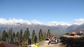 Resort de montanha na bandeja de Sochi filme