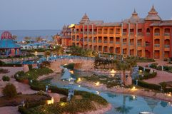 Resort in Egypt stock photo
