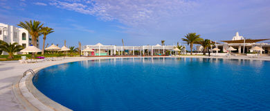 Resort Exterior Round Pool, Luxury Holidays, Scenic Destinations Royalty Free Stock Images