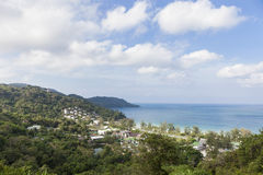Resort in forest near beach, sea view tropical andaman sea. Stock Image