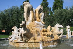 Resort Fountain Stock Image