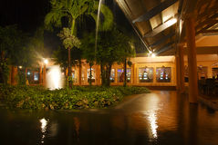 Resort Garden At Night Royalty Free Stock Images