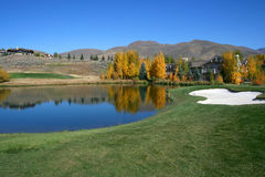 Resort Golf 2. Autumn colors at Idaho resort golf course Royalty Free Stock Images