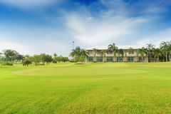 Resort in golf course Royalty Free Stock Images