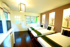 Resort guestroom. Hotel or resort guest room Royalty Free Stock Images