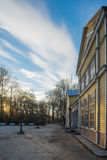 Resort hall of Kuressaare town by springtime morning Royalty Free Stock Image