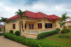 Resort Home in Cambodia. A beautiful resort home in Cambodia Royalty Free Stock Photography
