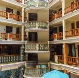 Resort hotel atrium Stock Photo