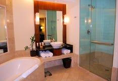 Resort hotel bathrooom. Resort hotel luxury spa bathroom Royalty Free Stock Image