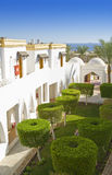 Resort hotel courtyard Stock Photo
