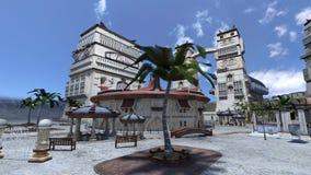 Resort hotel Royalty Free Stock Photo