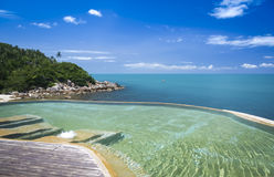 Resort hotel infinity pool ko samui thailand Royalty Free Stock Image